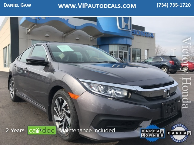 2017 Honda Civic EX for sale in Monroe, MI