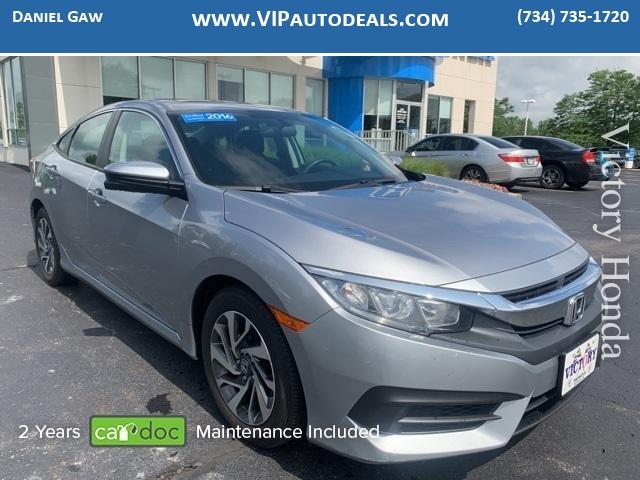 2016 Honda Civic EX for sale in Monroe, MI